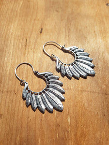 Circe Earrings -  Silver Plated Brass