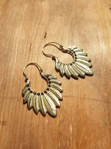 Circe Earrings - Brass
