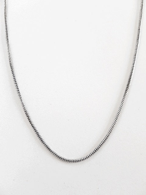 Brass 50cm Chain - Silver plated