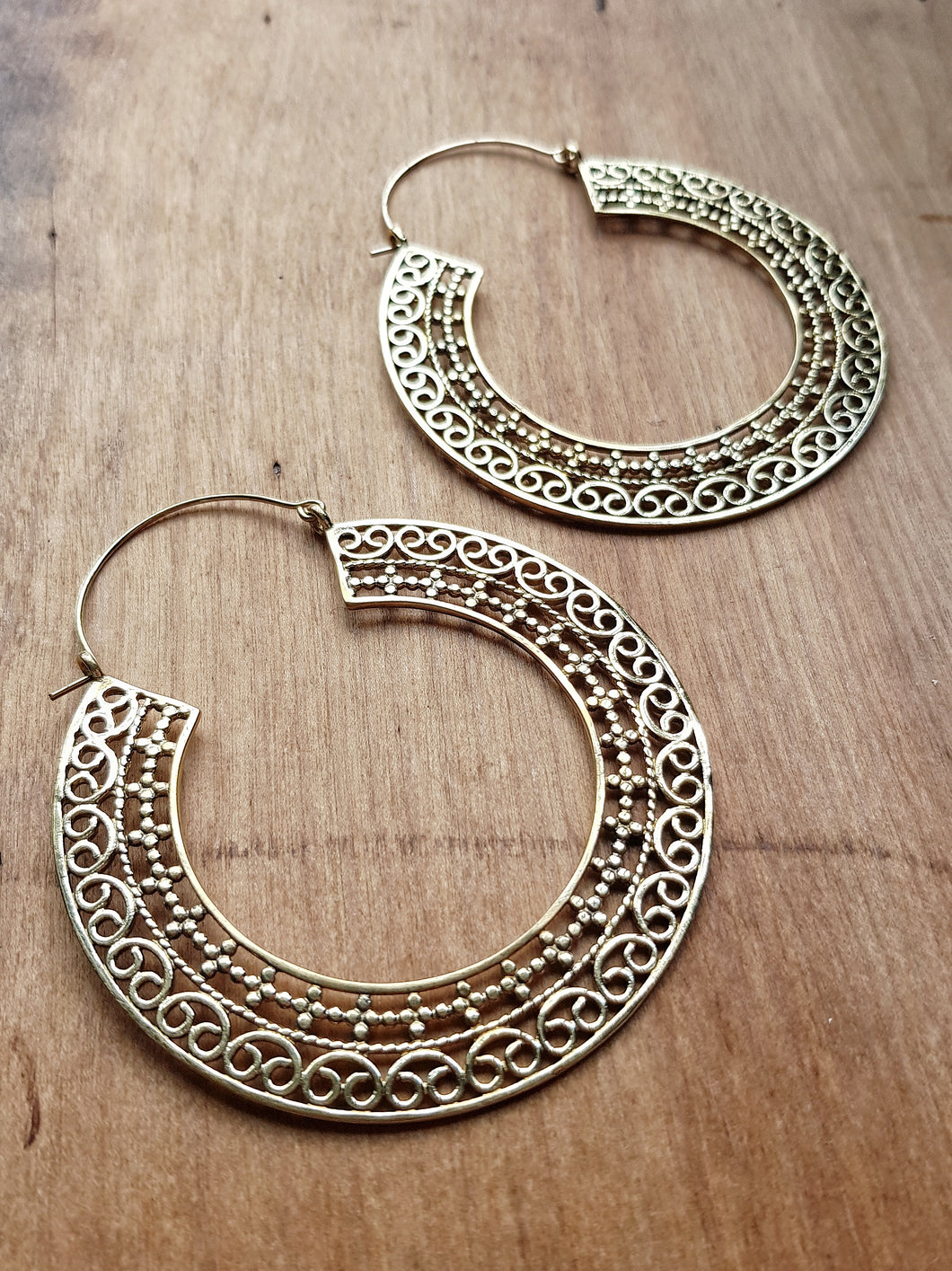Cassandra Statement Earrings - Brass