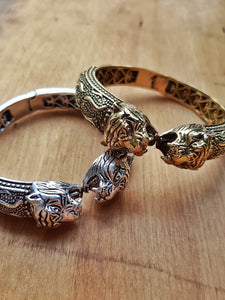 Rajah Bangle - Silver Plated Brass