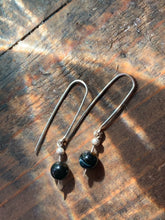 Load image into Gallery viewer, Blue Tigers Eye Drop Earrings