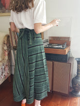 Load image into Gallery viewer, Stone Washed Stripe Wrap Skirt