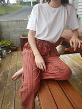 Load image into Gallery viewer, Stone Washed Stripe Straight Pants