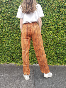 Stone Washed Stripe Straight Pants