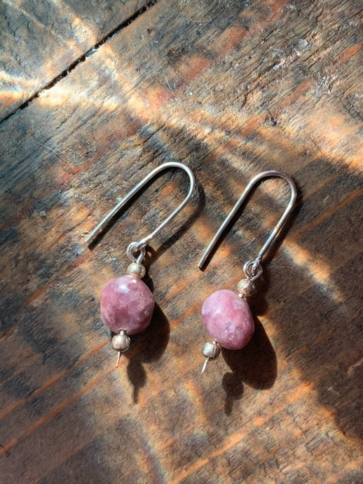 Lepidolite Drop Earrings