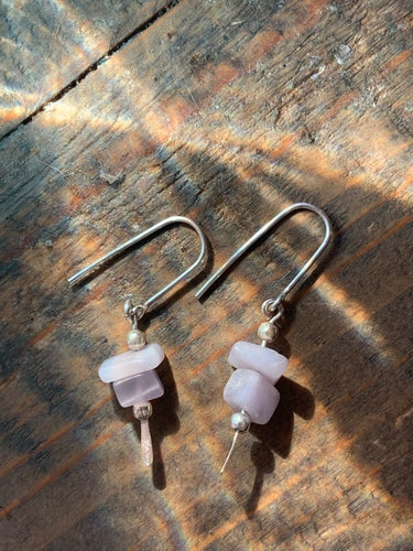 Lepidolite Pebble Drop Earrings