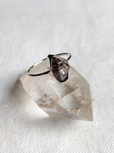 Load image into Gallery viewer, Small Rough Crystal Sterling Silver Rings