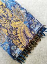 Load image into Gallery viewer, Multi Coloured Yak Wool Shawl - Blue Yellow and Orange