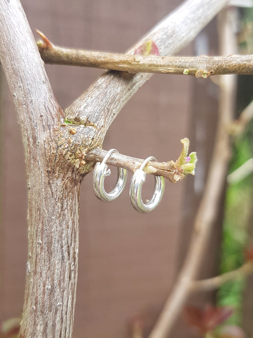 10mm Silver Hoop Earrings