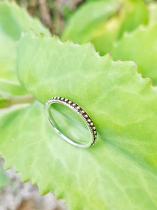 Silver Dot Eternity Ring - Size 5