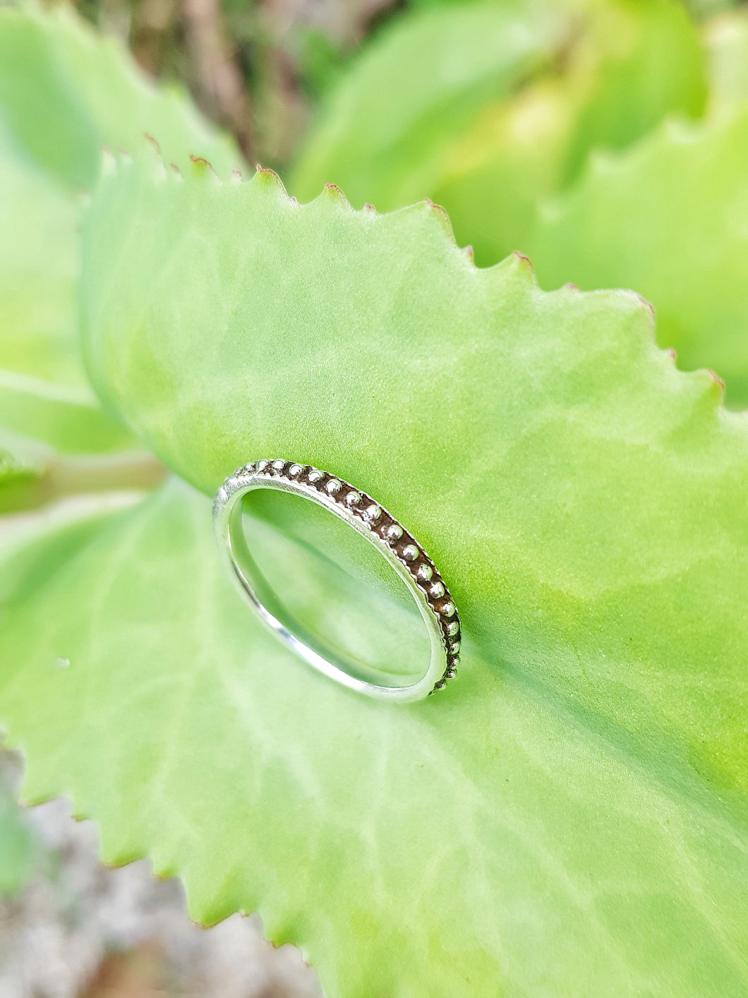 Silver Dot Eternity Ring - Size 7