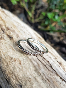 Silver Dot Eternity Ring - Size 9