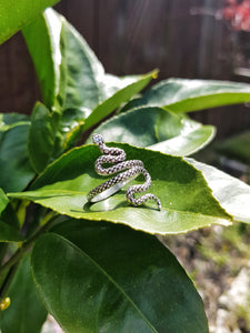 Silver Small Serpent Ring - Size 9