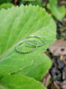 Silver Dew Drop Ring - Size 8