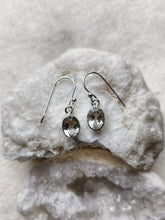 Load image into Gallery viewer, Sterling Silver and Gemstone Oval Earrings