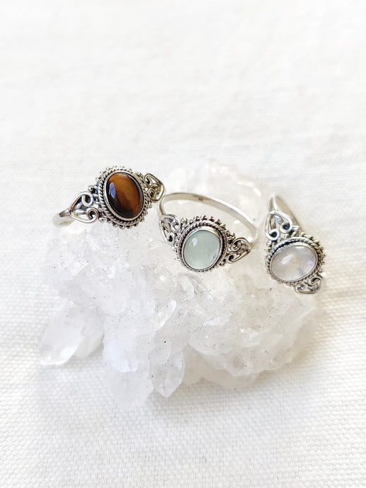 Sterling Silver Sol Gemstone Rings