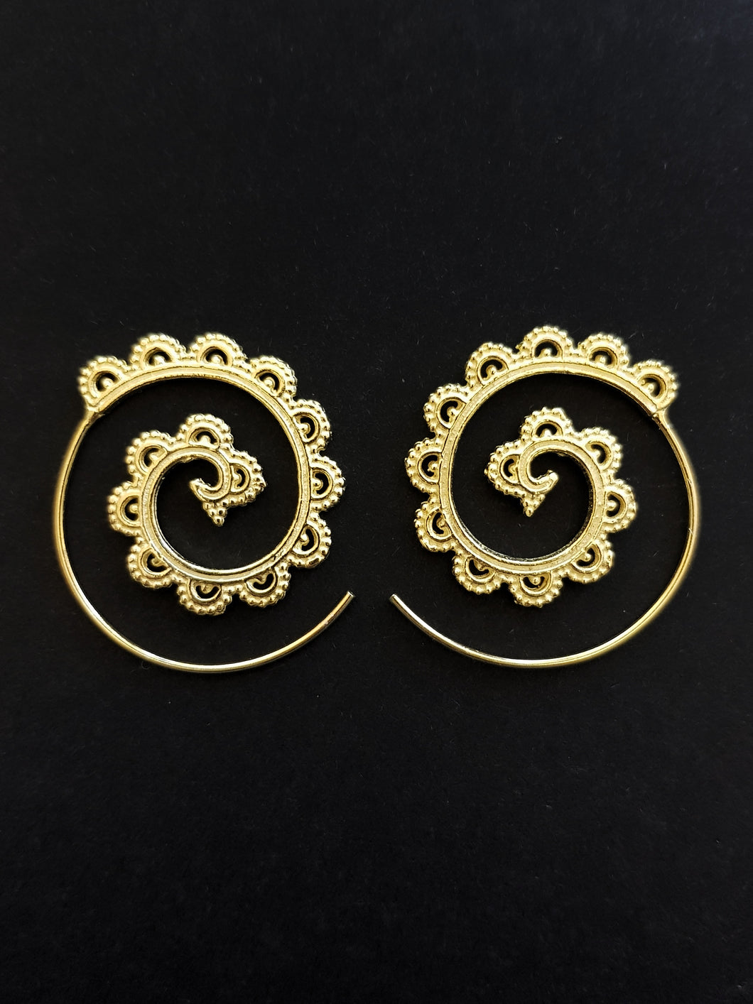 Gold Plated Filigree Spiral Earrings