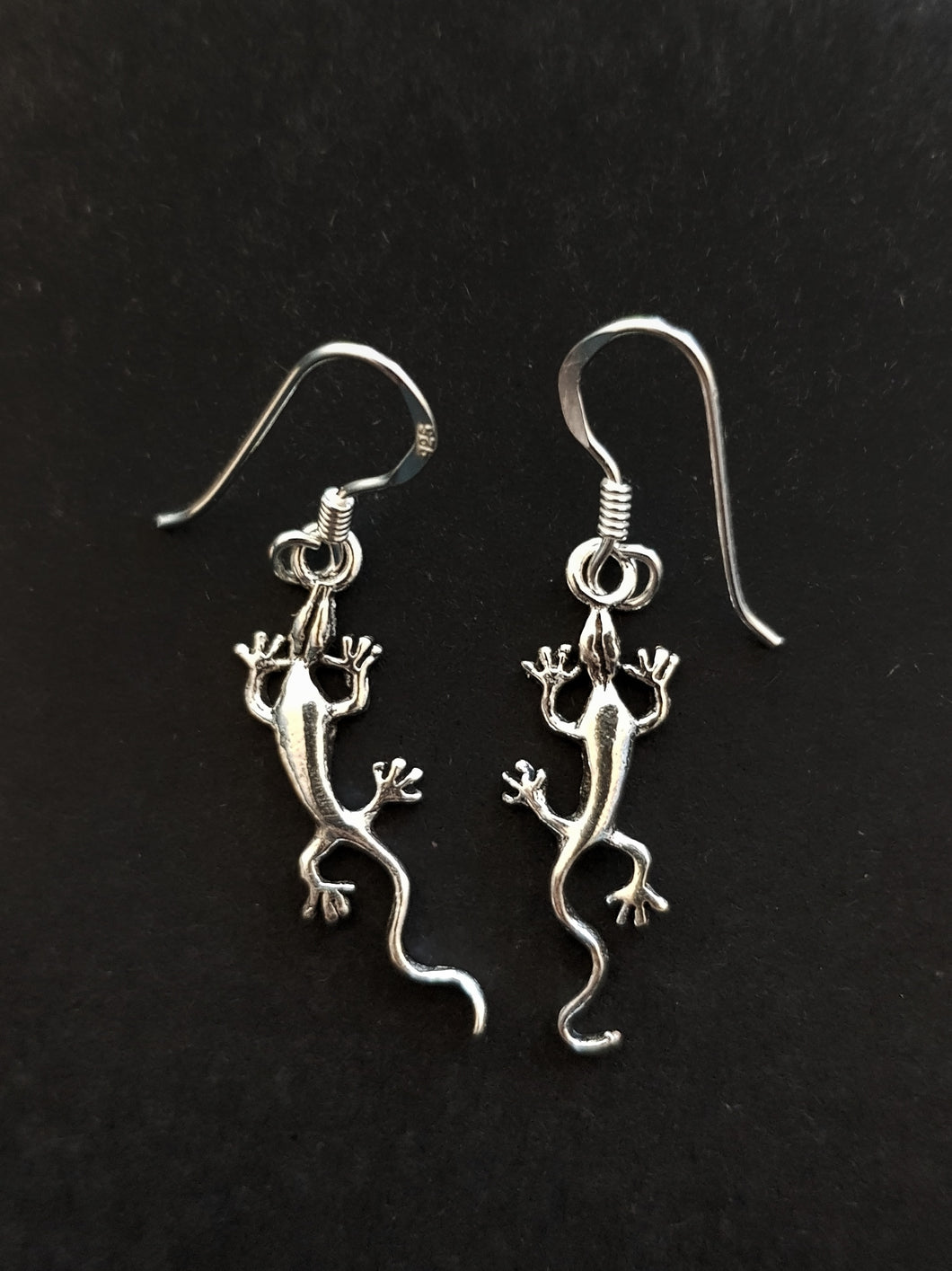 Silver Gecko Earrings
