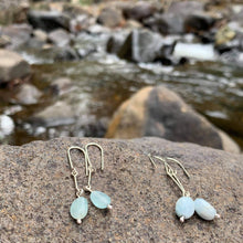 Load image into Gallery viewer, Aquamarine Drop Earrings