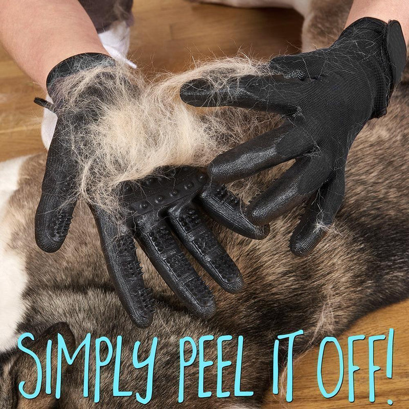 Hirundo Pet Grooming Gloves For Cats, Dogs & Horses - Left & Right ( 1 pair )