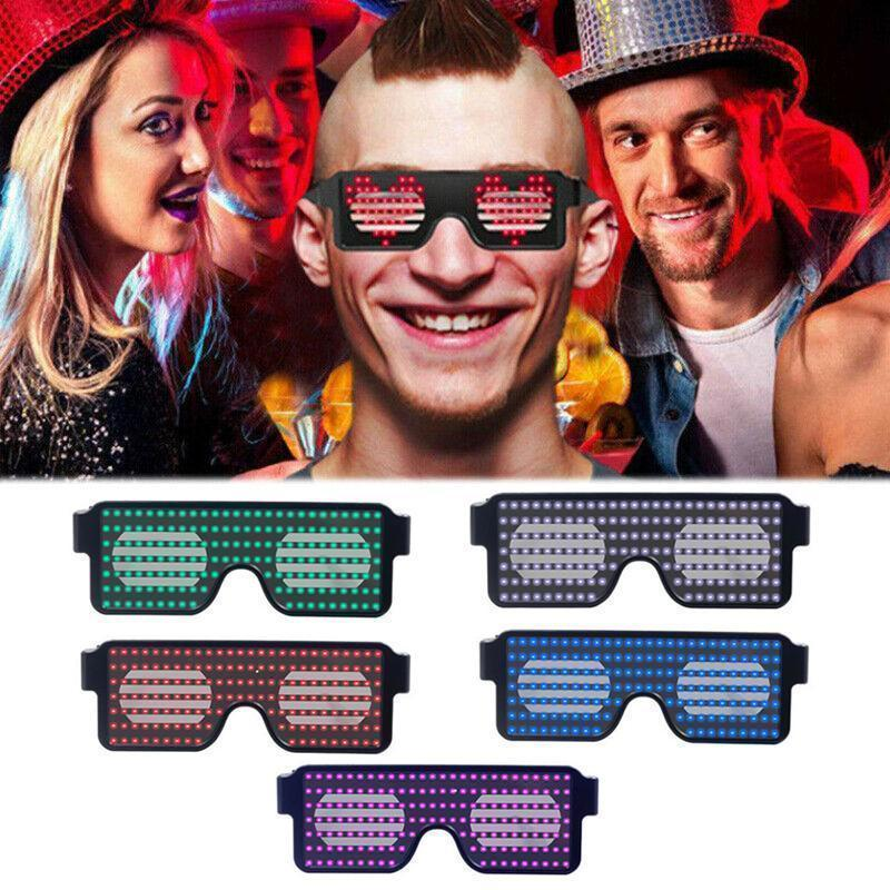 cool glowing LED glasses party