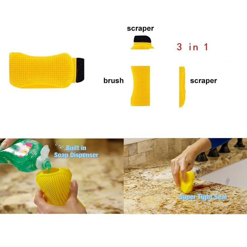 3-in-1 Silicone Cleaning Brush