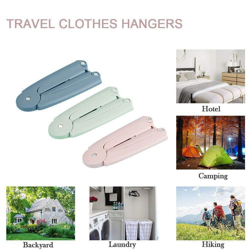 Travel folding hanger