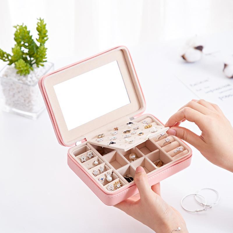 Portable Jewelry Box With Zipper