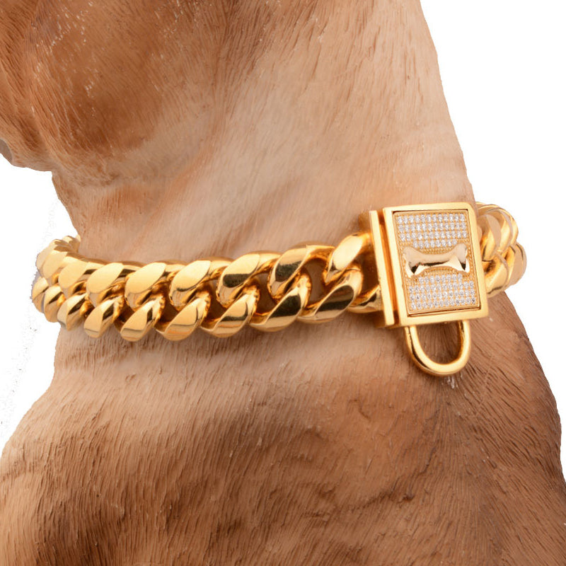 Stainless Steel Diamond pet Collars