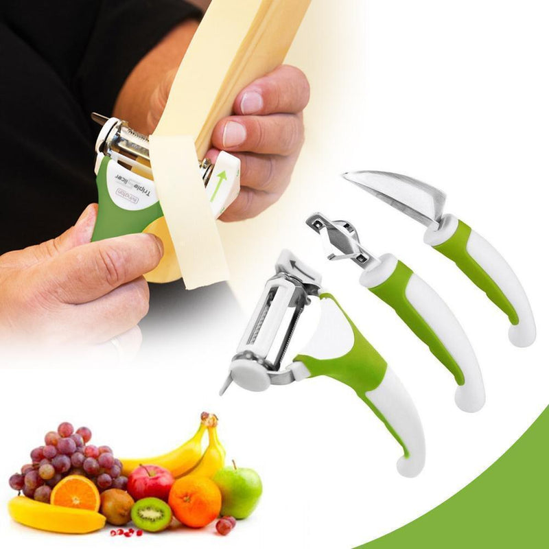 Multi-functional Triple Slicer (3 Piece Set)
