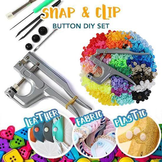 Snap & Clip Button DIY Set (300 Pcs Set)