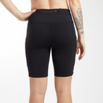 Long Pocket Jogger Shorts, Black