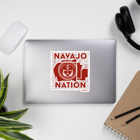 Navajo Nation Red Bubble-free stickers