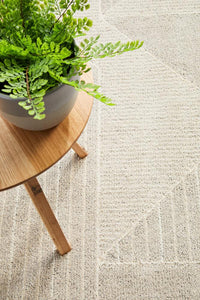 Zermatt Geometric Rug in Soft Grey