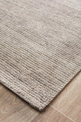 Lykke Hand Loomed Cotton Rug in Natural Stone