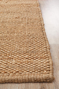 Abode Basket Weave Natural Jute Rug