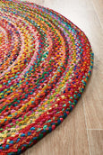 Atrium Chandra Braided Cotton Rug Multi