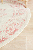 Manhattan Rose Vintage Pattern Round Rug