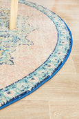 Manhattan Blush Vintage Pattern Round Rug