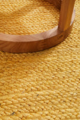 Byron Natural Jute Rug in Yellow