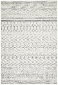 Yucatan Tribal Pattern Rug in Monochrome