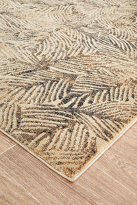 Lola Palms Transitional Rug in Cream & Charcoal