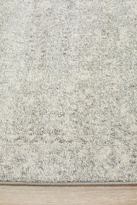 Riga Transitional Runner Rug in Silver