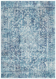 Valencia Transitional Rug in Blue