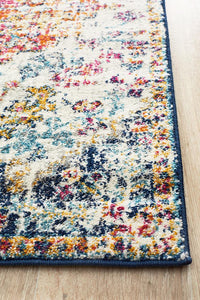 Lakshmi Multi Coloured Transitional Runner Rug