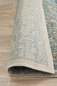 Vienna Transitional Rug in Silver and Blue