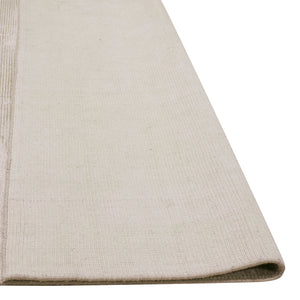Aura Luxury Ribbed Hand Knotted Rug in Ivory Beige