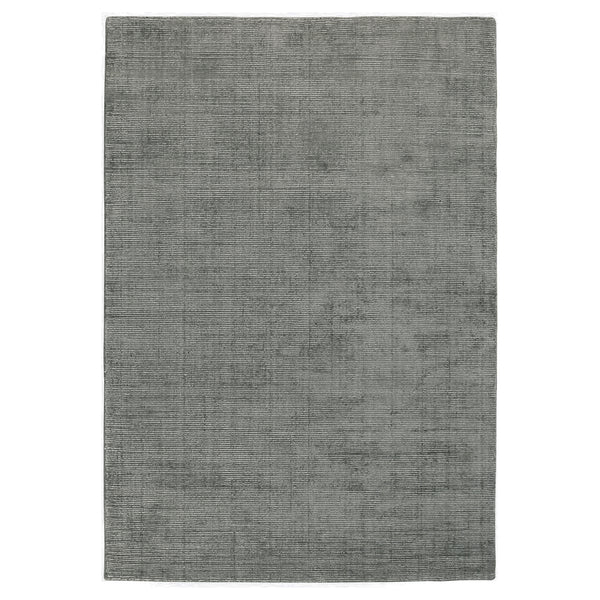 Aura Luxury Ribbed Hand Knotted Rug in Grey