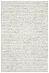Meadow Braided Woollen Rug in Ivory